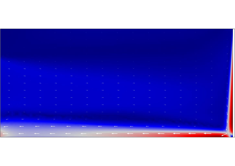 Auswertung und 2D Visualisierung Kaltluftabfall Fensterfront